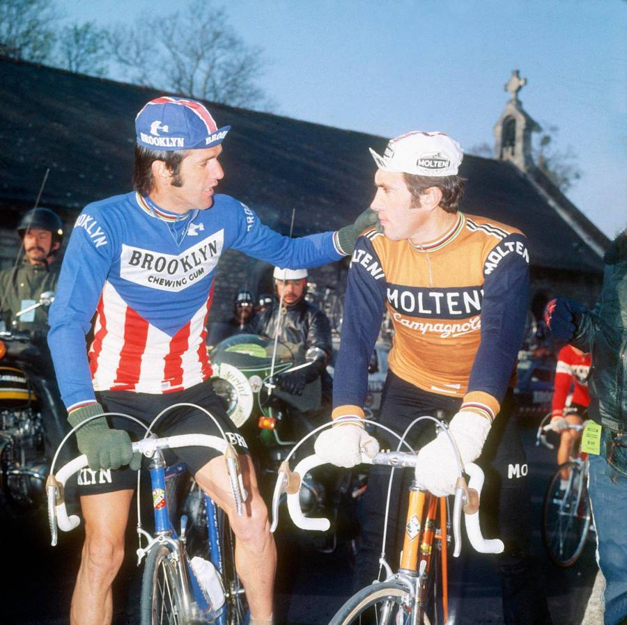 ... greatest of all time in cycling history. roger-de-vlaeminck-og-eddy- merckx-paris-roubaix- 69b415e56